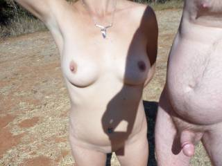 Nice couple, We would love to take a naked walk in the sun with you guys