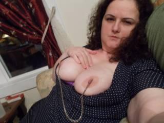 we love nipple clamps too!, you look so pretty nice!