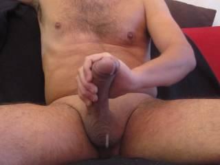 cumming hard after good wank on cam