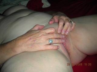 Love to lick her sweet pussy while she rubbed it.