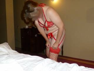 Getting ready to have some fun with Mr Redwoods .Do I look ok for a night of sexy fun ?