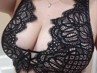 I felt like wearing the fancy bra to work
