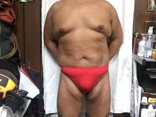 red bikini bulge full body