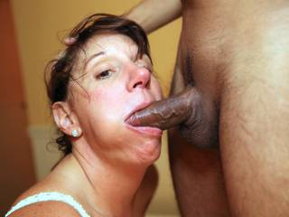 Mature 54 year young hotwife servicing the cock of a man half her age.