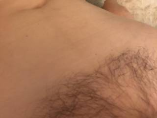 we want to find someone to cum all over her hairy pussy and soft belly