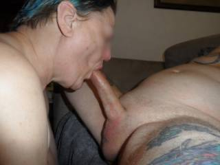 Hi all I think you all know by now how keen I am on the taste of hot cock, specially the reward at the end dirty comments welcome mature couple
