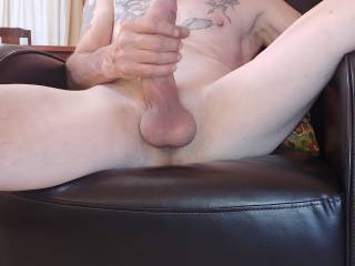 Firm grip on my Cock. Any ladies want to grab a hand full?