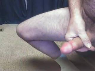 Lover sent me a video of her fucking herself with a dildo, so I shot this video of me jerking and cumming to her video.