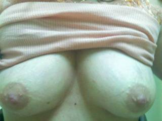 Just remember that if u fuck my titties that the cock has to be put into my mouth when you get ready to explode. Don\'t want to waist a drop. Also I like to have my titties licked. If you cum on them you have to lick it up.
