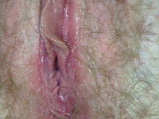 Who wouldn\'t fuck her? Someone please do a cum tribute and send it to us. She loves cum all over her hairy pussy.