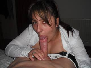 Very nice photo and I would bet she will do well with his cock (thick as it is).