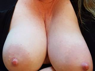 My big heavy breasts out for you... wanna nurse?