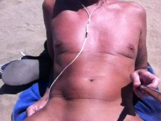 Taken on the nudist section of the beach on a recent holiday to Malpalomas in Gran Canaria