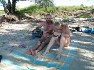 want to cum play with us at the beach one weekend??