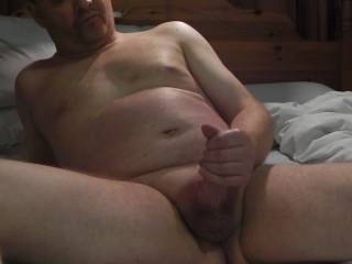 Watching some porn and wanking my shaved cock until I cum