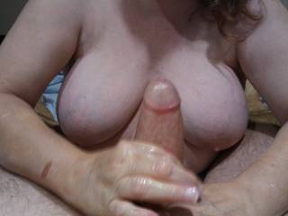 There is nothing like my husband's hard thick throbbing Cock in my hands.
