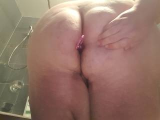 playing with my new anal beads