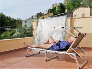 On holiday and enjoying the sun