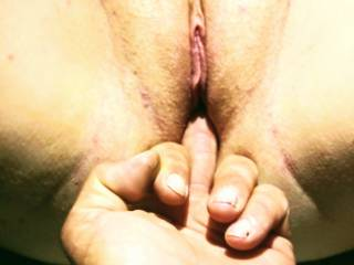 after fucking, I had to play some more..bae had to get a feel when my pussy came and squeezed his finger! Don't y'all love when a lady cums everywhere??
