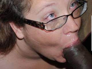 Cumshot all over those glasses