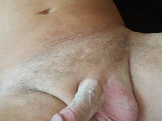 My cum filled balls and cock.