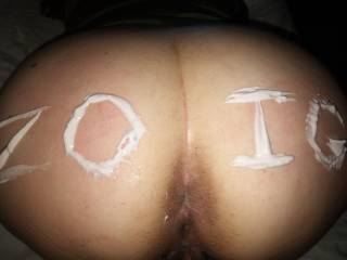 Thanks for all the feedback. After I wrote that on her with yogurt I licked it off...as well as eating it out of her ass.