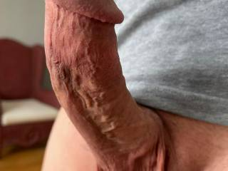 Who wouldn't want to be this close to a fat veiny dick? Tell me what you think.
