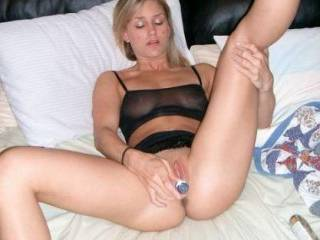 OH FUCK, we wish we could catch you playing with your pussy like that.  Ummmm, we would eat you up sweetie.....giving you several orgasms.  G and K          PS: Your making G's cock hard.
