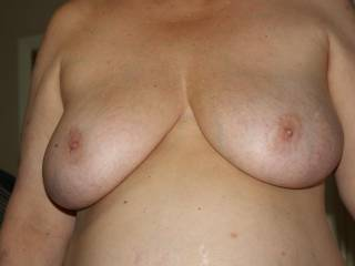Your wife has fantastic tits i could suck on them for hours !