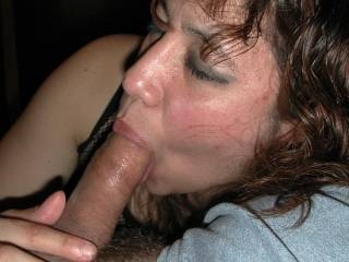 I love for her to suck my hard black cock.