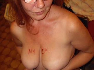 wow very hot , ty for the tribute, we will be wright over to lick r name off those beautiful breasts