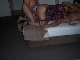 Hotwife having fun with 2 strangers