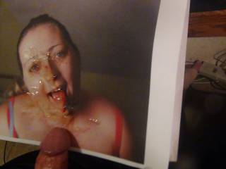 fatkitty gets face painted with jizz,do you want a facial too? pm us!