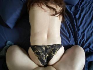 She is so hot and I wanted her so bad, I didn't have the patience to get her panties off before thrusting into her!