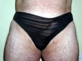 Love those panties - just shear enough to see clearly your cock and would love to see your cum in them too