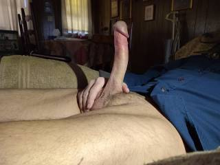 Having a quick stroke.  Would any of you ladies like to mount me? Suck me? Why not both?