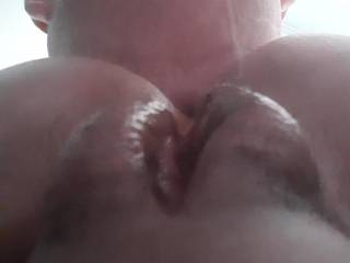 Eating her ass and pussy