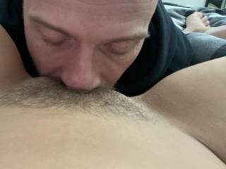 Love licking her tight hairy pussy ;)
