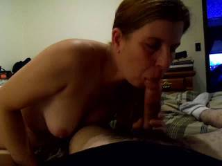my girl now wife sucking on my dick what you all think