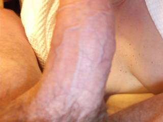 gigja wants to pull back his forskin and lick around his head as i fuck you in front of him,,,then as you cum ,she will lick your pussy clean ,,before he fucks her in return....well we can all dream