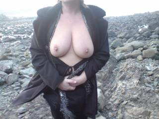 tits showing outdoors ar wonderful, but yours are the best