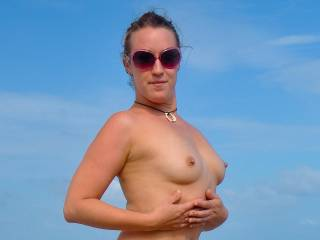 Another photo of Stephanie and her small, but beautiful breasts and pierced nipples.