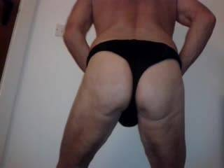 I just love to show off my nicely rounded bottom and cock so that al the horny buggars can play with themselves whilst watching.  lover boy James