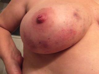 """subs boobs after a morning of fun """"right"""""""