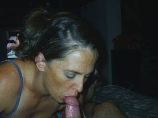 she is one sexy cock sucker, because of the creamy treat she gets at the end
