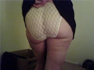 My wifes sexy ass just before we fucked last nite!  You like it? let us know.