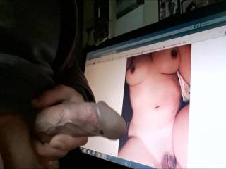 a lovely lady asked for a cum tribute