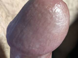 Closeup of my cockhead, jerking at work!