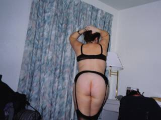i love her hot ass and her sexy body the stockings look so hot