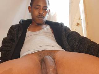 High and ready to stuff your wife's pussy full of this long black dick